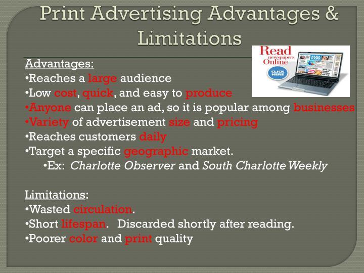 Print Advertising Advantages & Limitations
