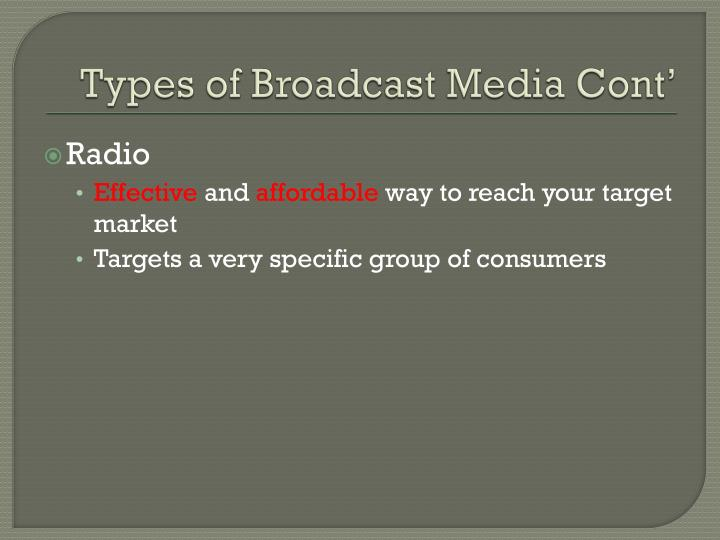 Types of Broadcast Media