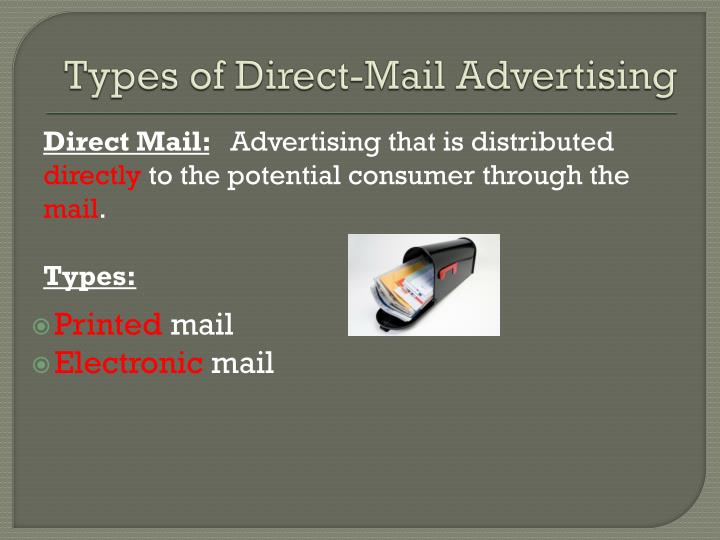 Types of Direct-Mail Advertising