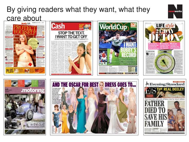 By giving readers
