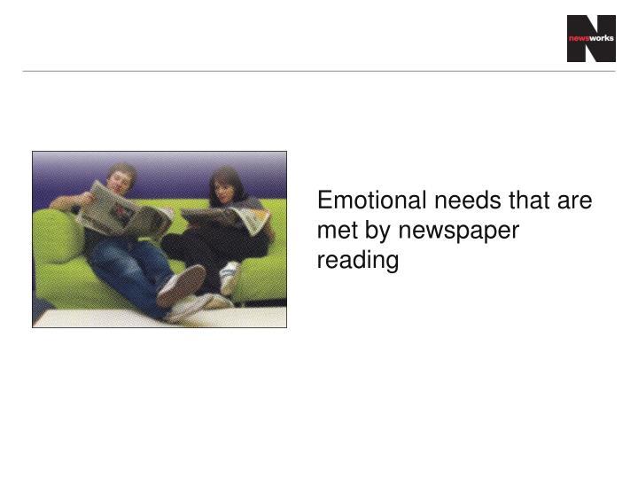 Emotional needs