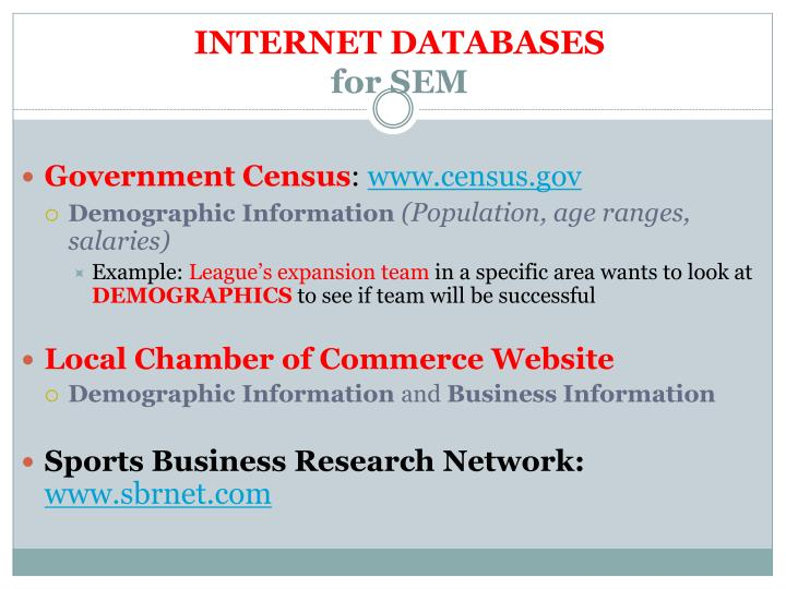 INTERNET DATABASES