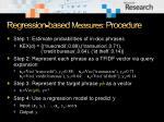 regression based measures procedure