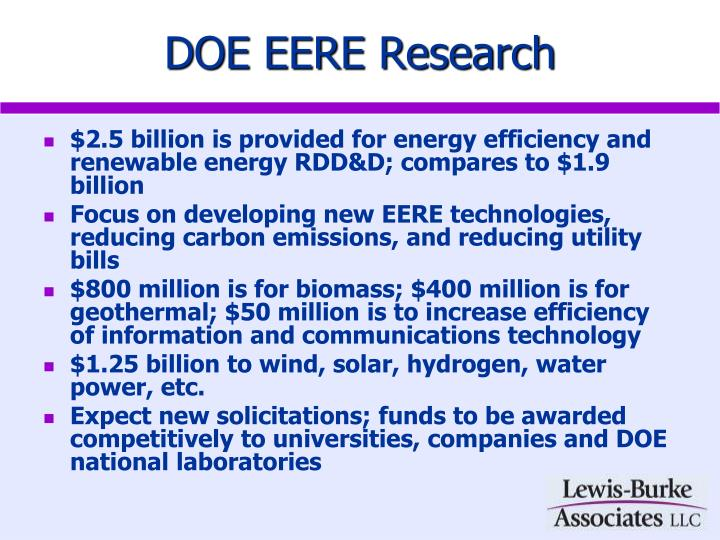 DOE EERE Research