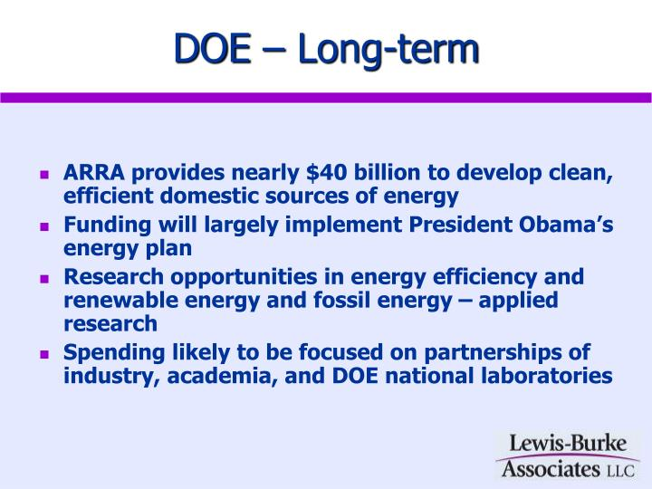 DOE – Long-term