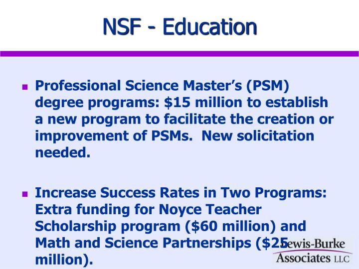 NSF - Education
