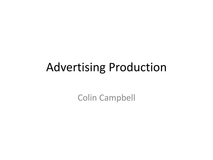 advertising production n.