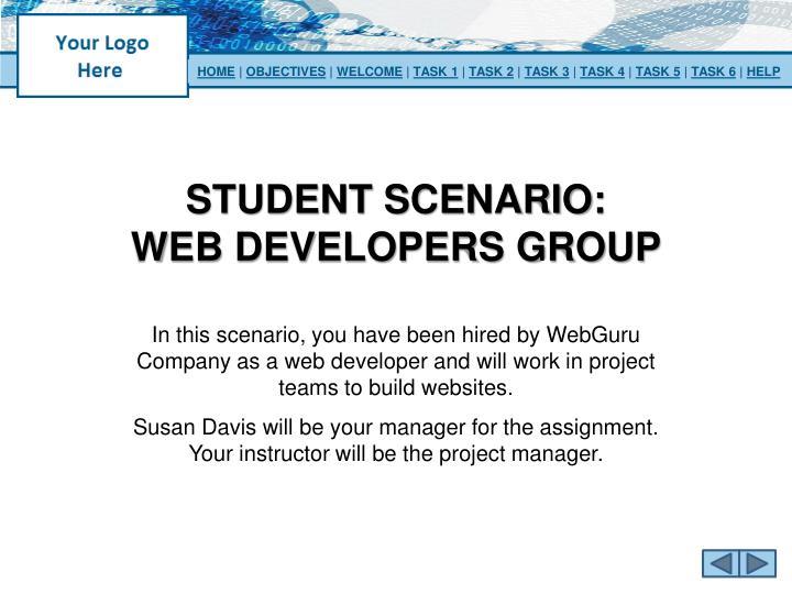 Student scenario web developers group