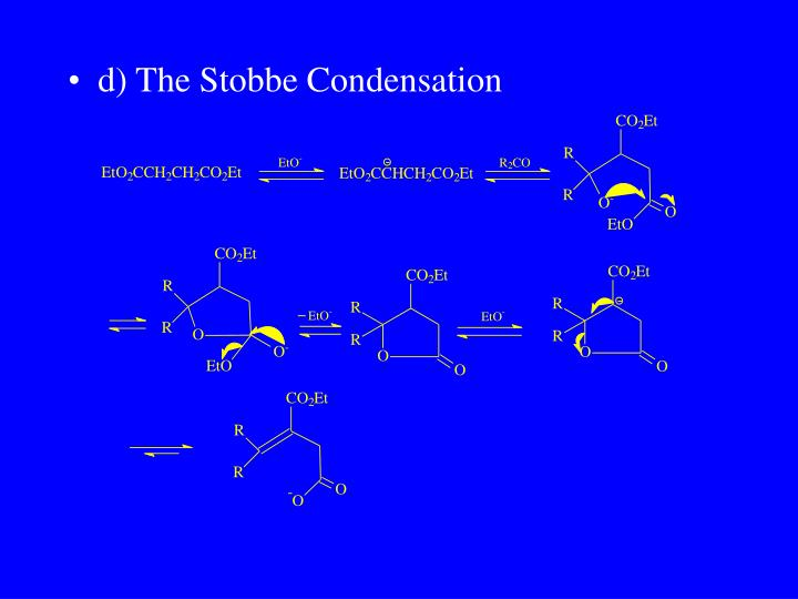 d) The Stobbe Condensation