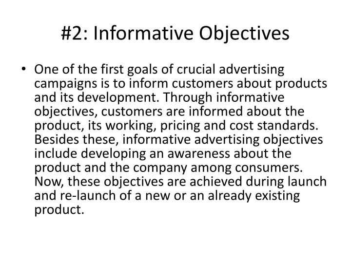 2 informative objectives