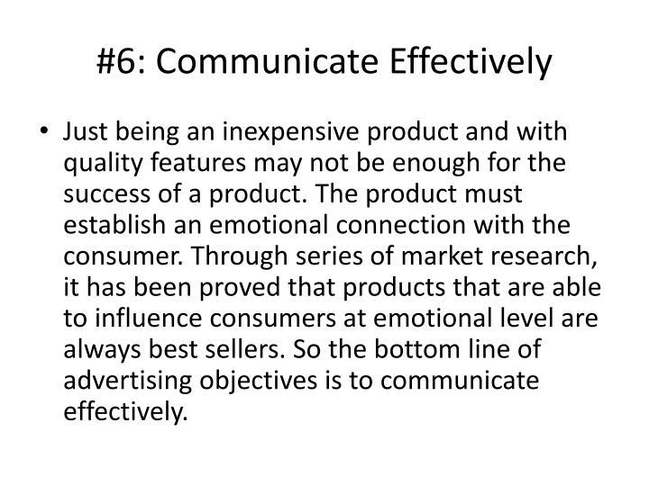 #6: Communicate