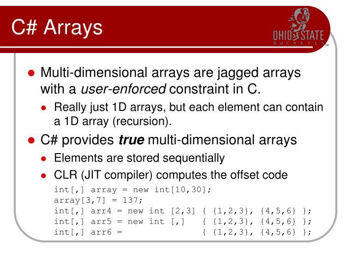 C# Arrays