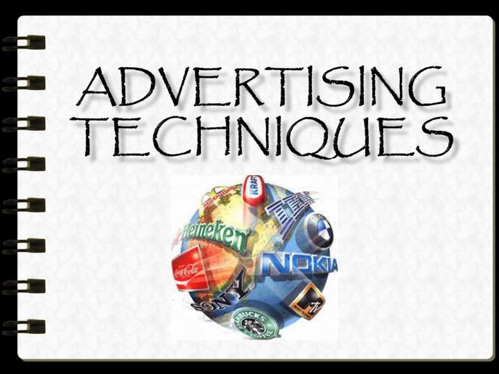 advertising techniques n.