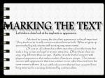marking the text1
