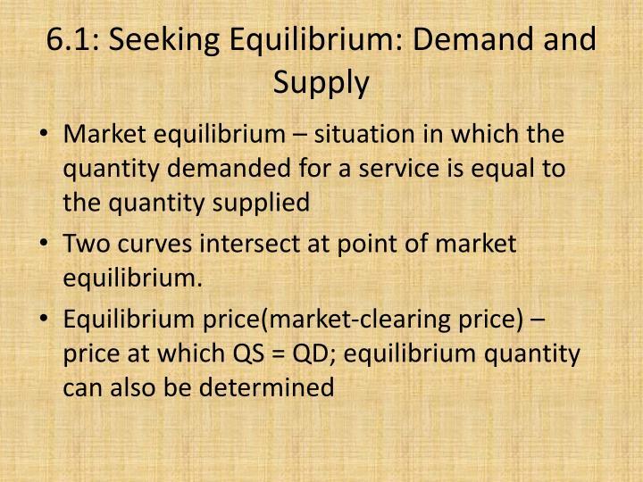 6.1: Seeking Equilibrium: Demand and Supply