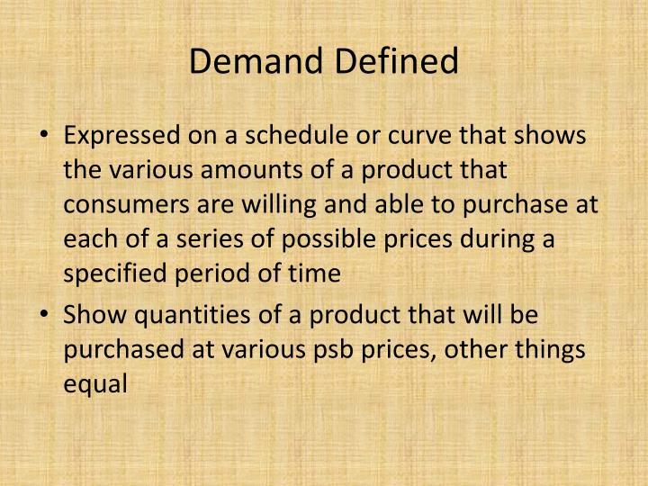 Demand Defined