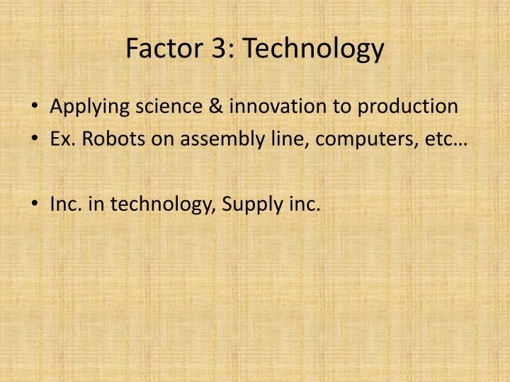Factor 3: Technology