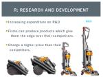 r research and development
