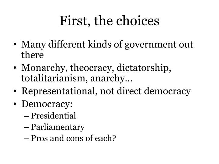 First, the choices