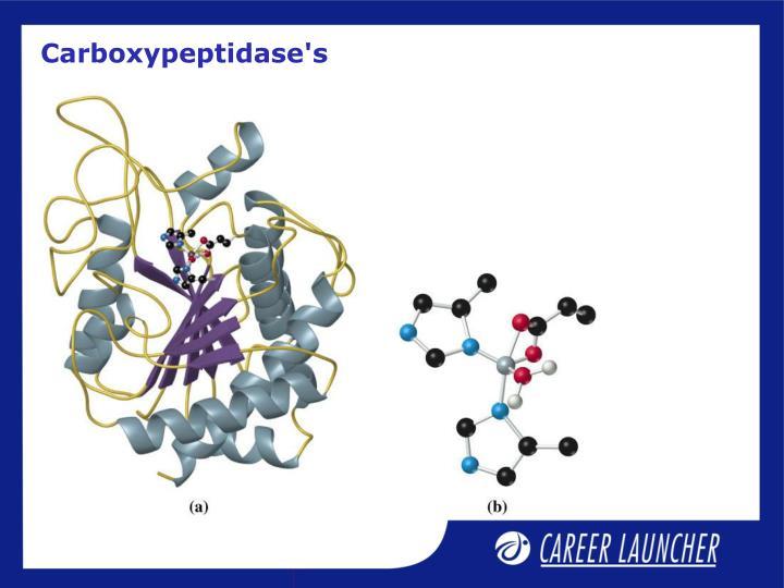 Carboxypeptidase's
