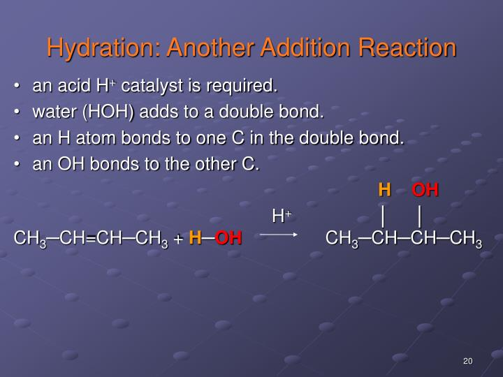 Hydration: Another Addition Reaction