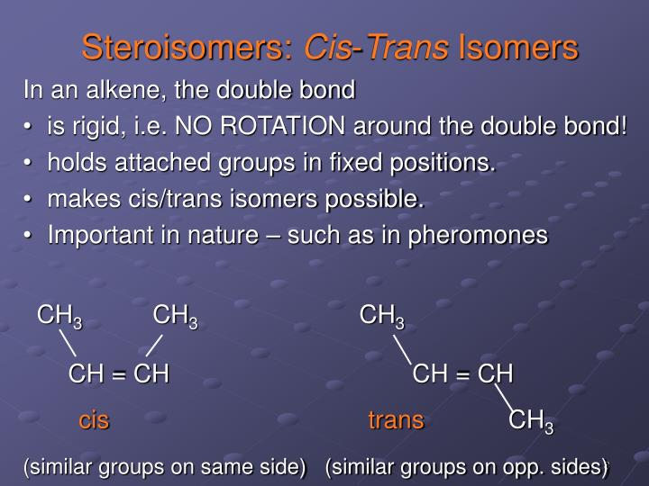 Steroisomers: