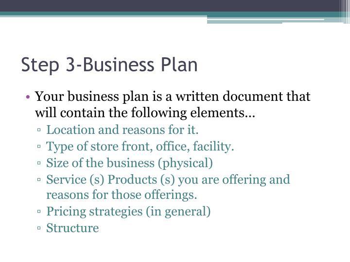 Step 3-Business Plan