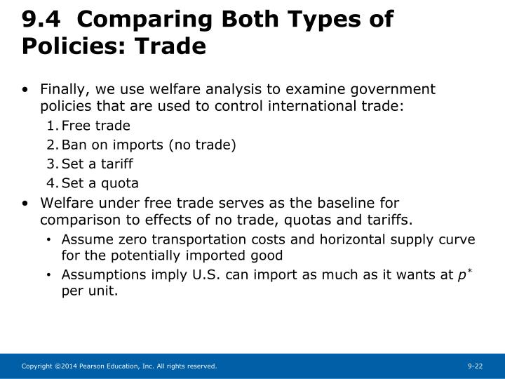 9.4  Comparing Both Types of Policies: Trade