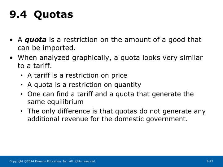 9.4  Quotas