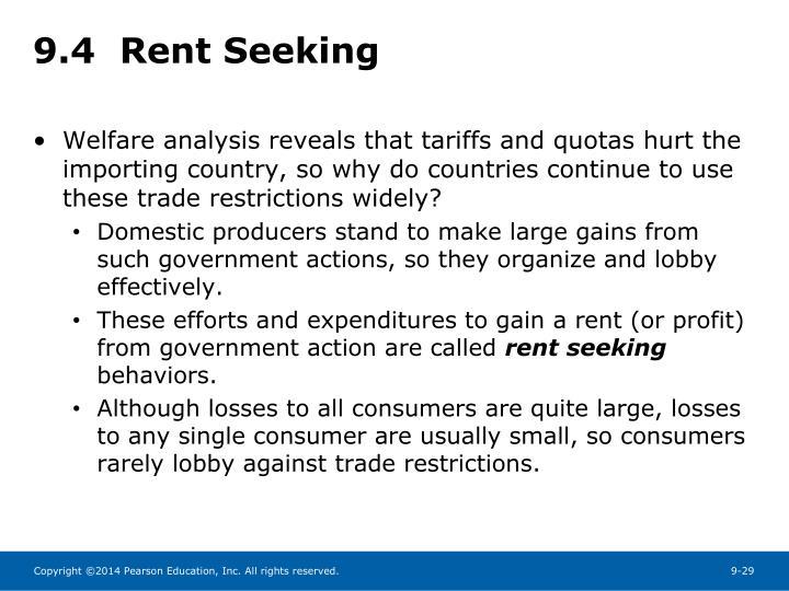 9.4  Rent Seeking