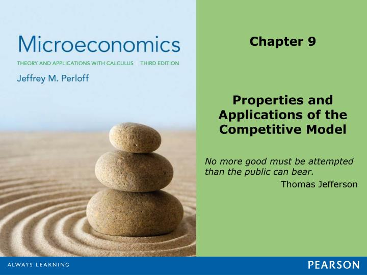 Chapter 9 properties and applications of the competitive model
