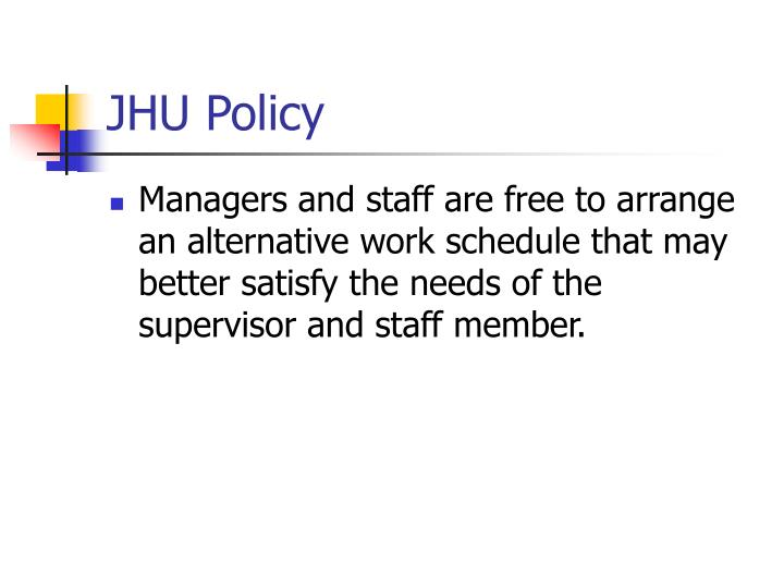 Jhu policy