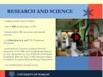 research and science
