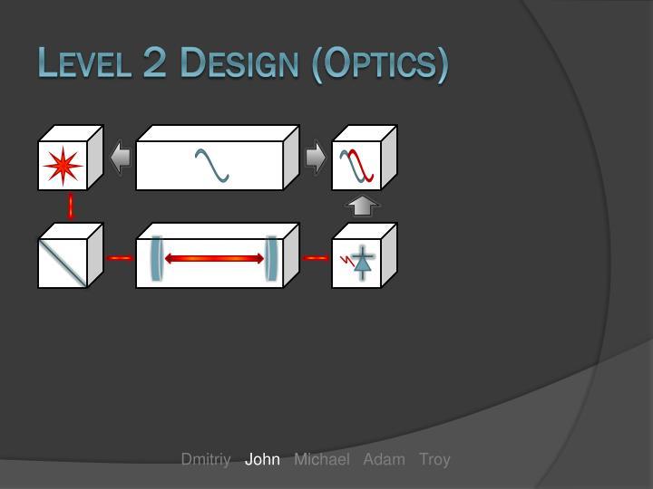 Level 2 Design (Optics)