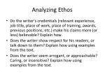 analyzing ethos