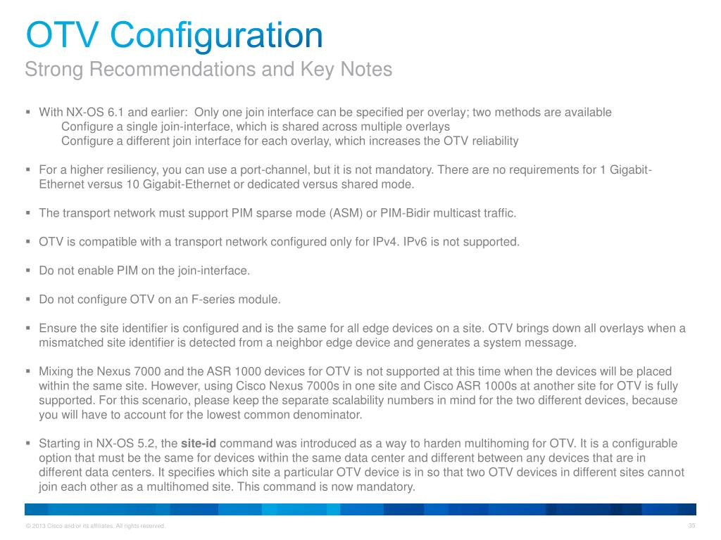 PPT - Quick Start Guide Overlay Transport Virtualization (OTV