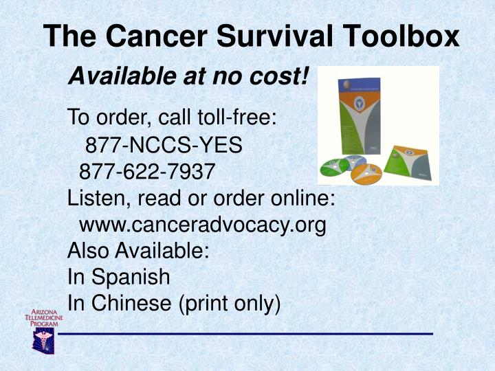 The Cancer Survival Toolbox
