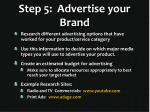 step 5 advertise your brand