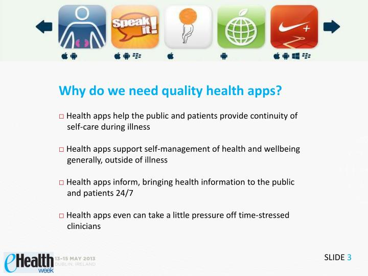 Why do we need quality health apps?