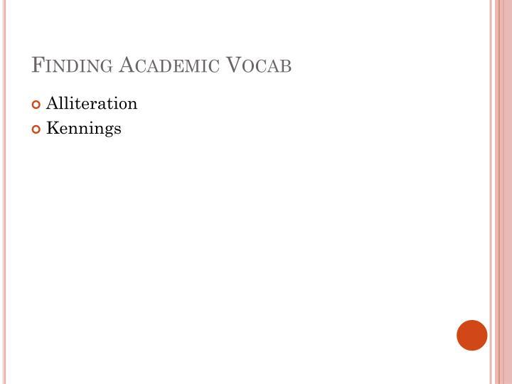 Finding Academic