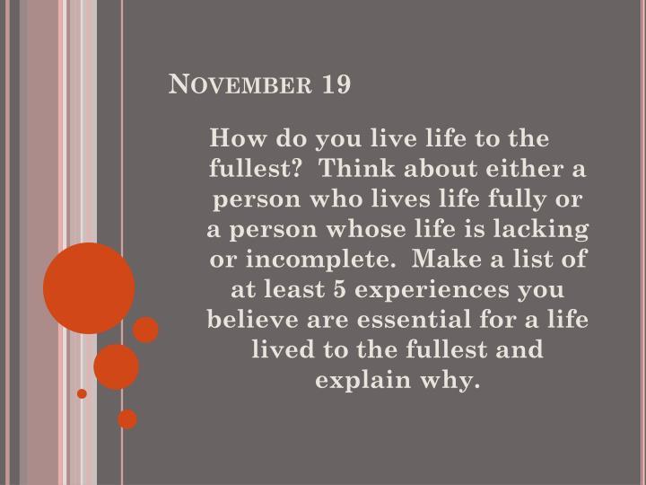 November 19