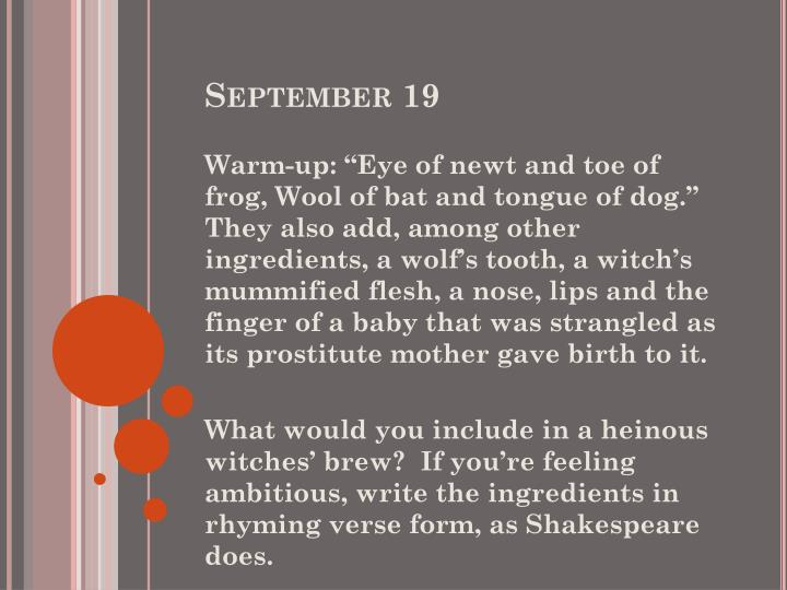 September 19