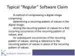 typical regular software claim