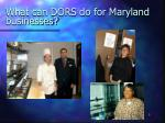 what can dors do for maryland businesses