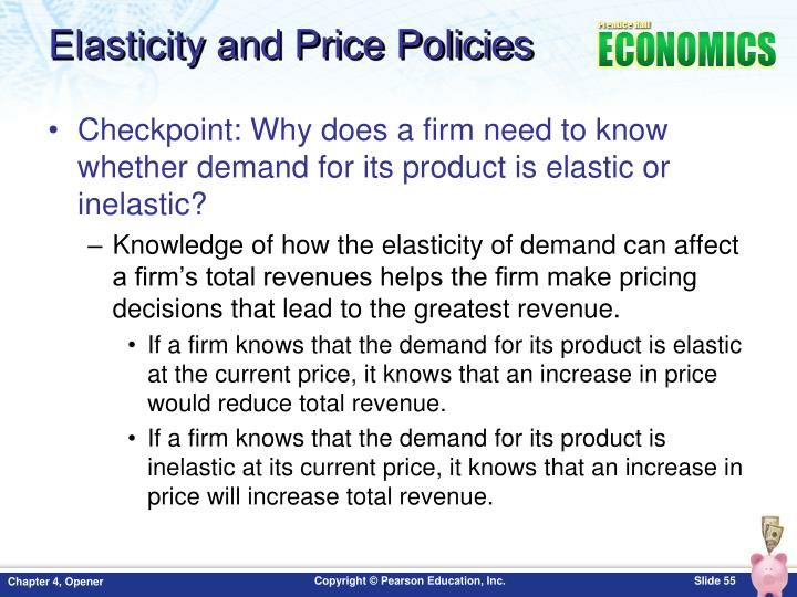 Elasticity and Price Policies