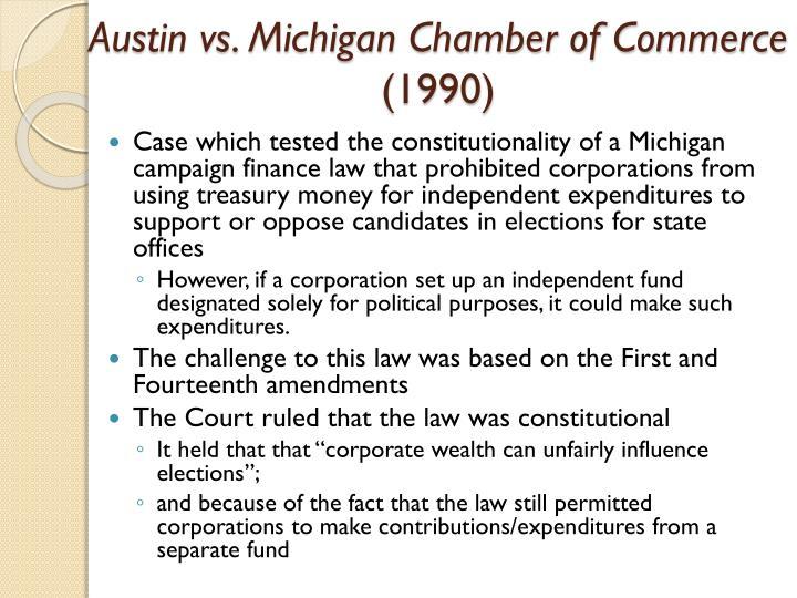 Austin vs. Michigan Chamber of Commerce
