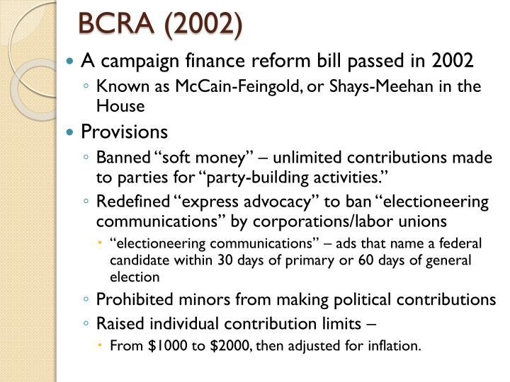 BCRA (2002)