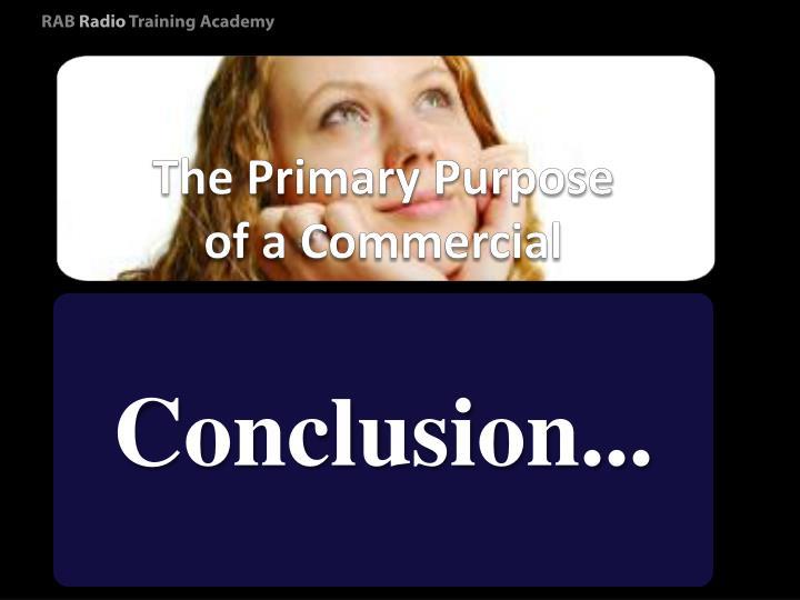 The Primary Purpose