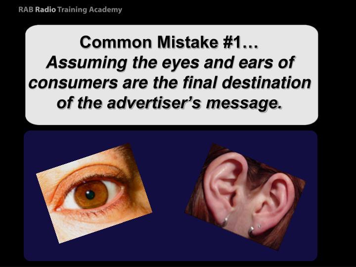 Common Mistake #1…
