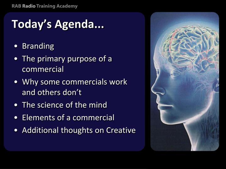 Today's Agenda...